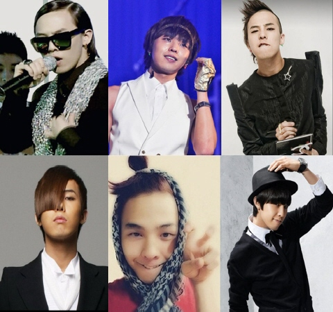 GDragon's ever-changing unique hairstyles. New unique hairstyle to be