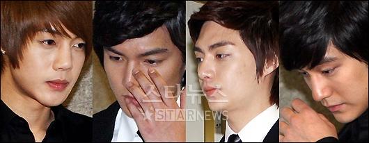 Lee min ho s representative said the cast had sat there