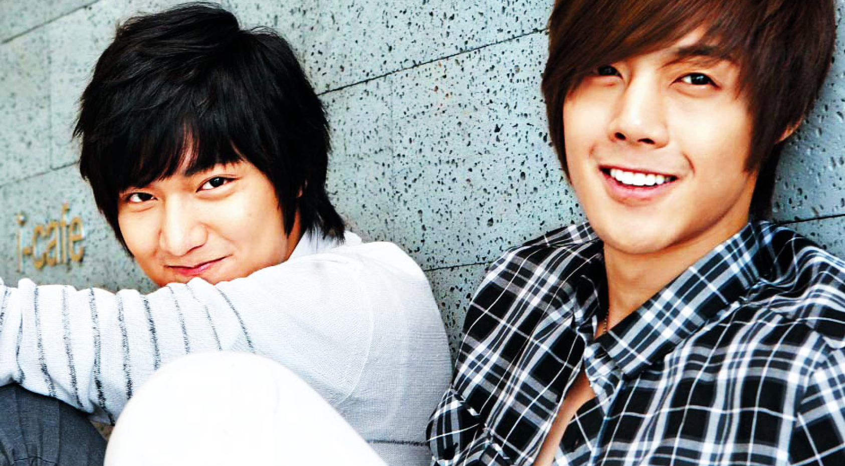 lee minho and kim hyun joong met again in an upcoming new anycall cf