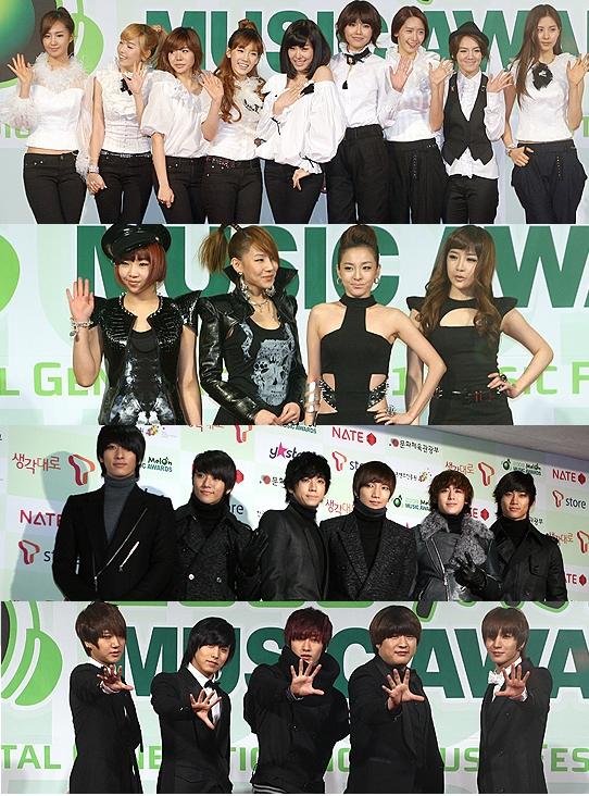 Melon Music Awards 2009 Prelude Red Carpet K Bites