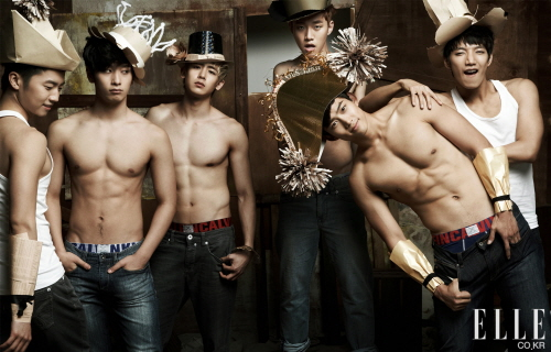 2PM for Calvin Klein photoshoot in upcoming June issue of Elle