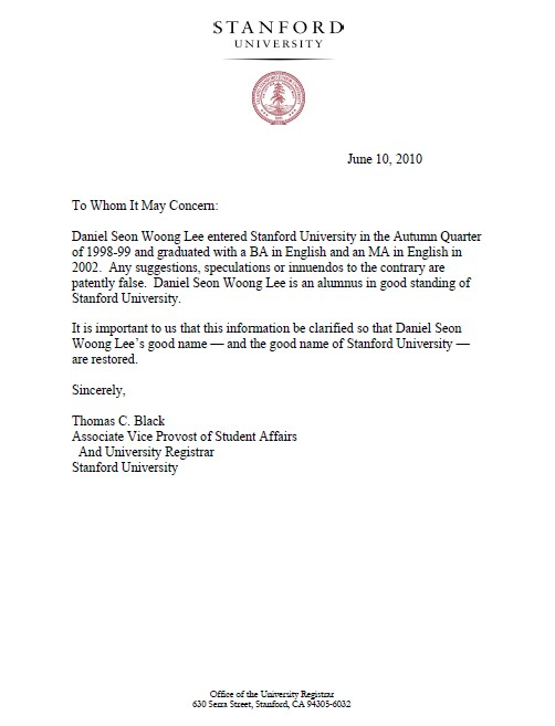 Get A Confirmation Of Degree Request Letter To University