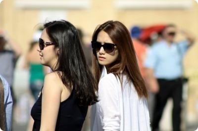 YoonA إيطاليا عائلتها